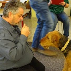 Bobby ist geprüfter Therapie – Hund! 😊